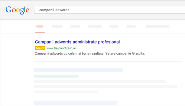 Campanii Google Adwords